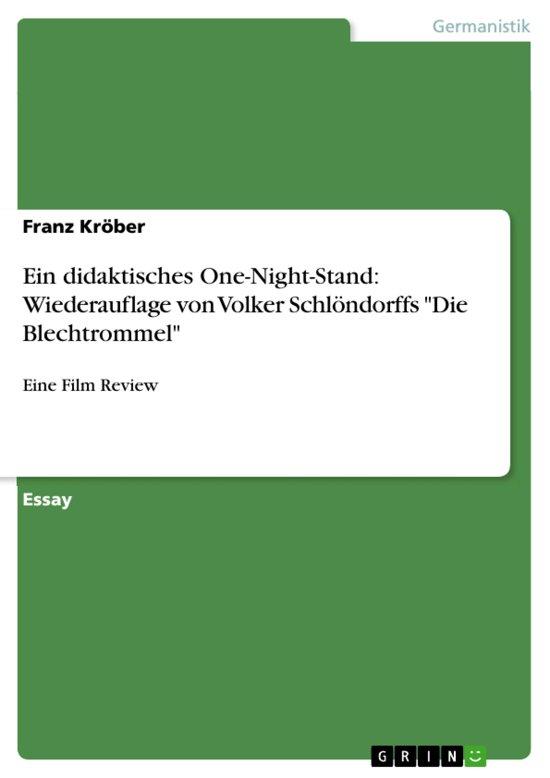 Ein didaktisches One-Night-Stand: Wiederauflage von Volker Schlöndorffs 'Die Blechtrommel'