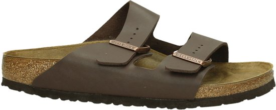Birkenstock - Arizona - Comfort slippers - Heren - Dark Brown BF -