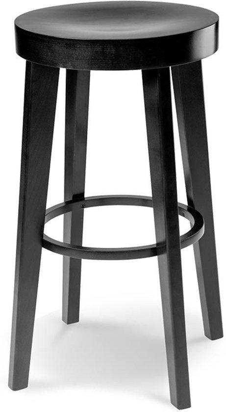 Fameg Fico kruk - Hout - 61 cm hoog - Zwart gebeitst