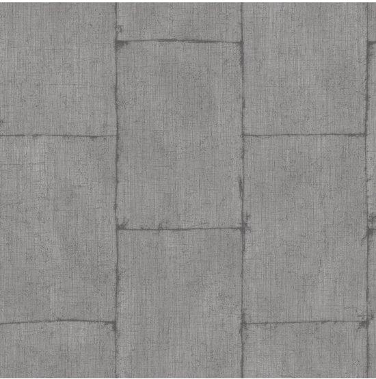 Textured Plains metal d.grijs behang (vliesbehang, grijs)