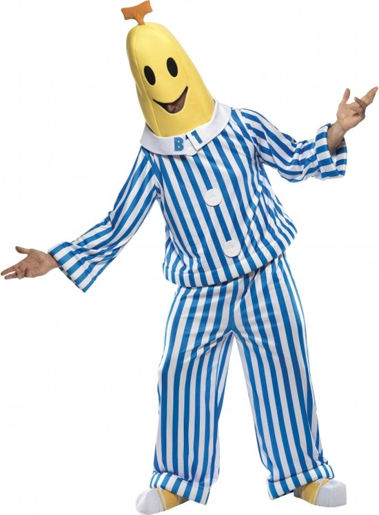 Banaan in pyjama kostuum (volwassen)