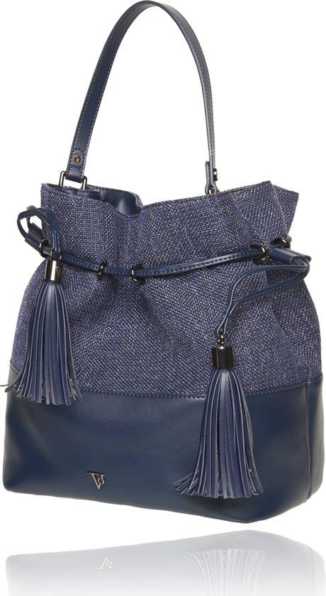 TOV Essentials - Jane bucket bag - Schoudertas - Navy/Boucle