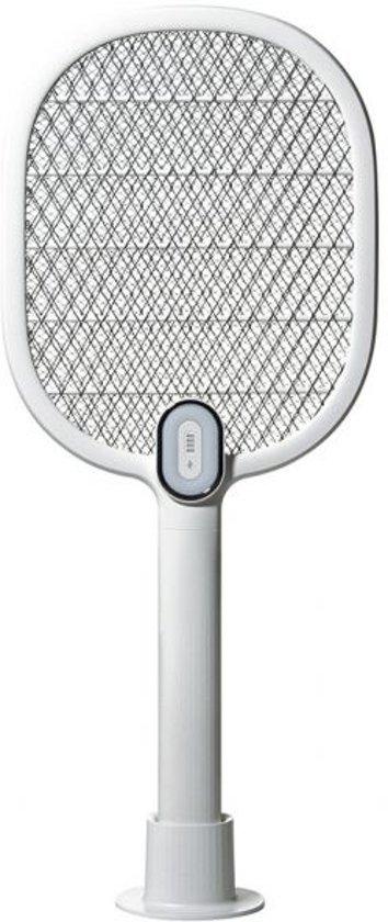 MM-Elektrische Vliegenmepper- Oplaadbaar- LED lamp- Incl. standaard