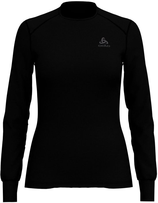 Odlo Bl Top Crew Neck L/S Active Warm Dames Sportshirt - Black - Maat M