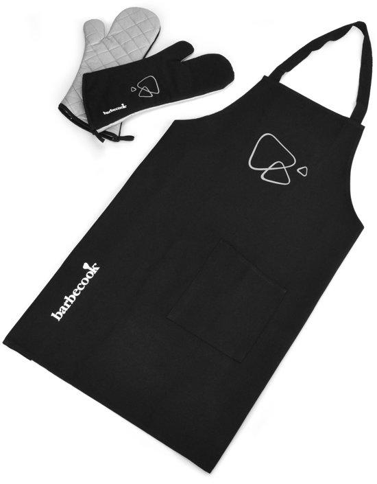 Barbecook Set Schort Met Paar Handschoenen - Zwart