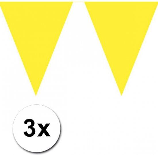 3x Vlaggenlijn Geel 10M