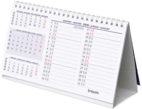 Bureaukalender kwartaal 2018 dwars 21x12 for Bureau kalender