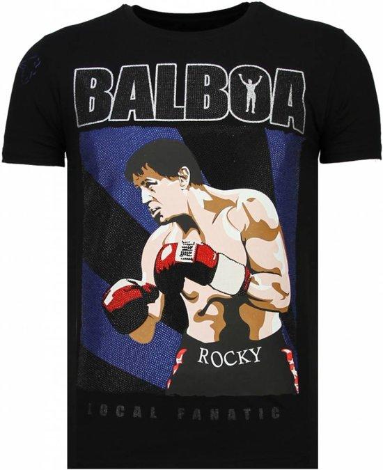 Zwart T MatenXl Local BalboaRhinestone shirt Fanatic vNmynwO80