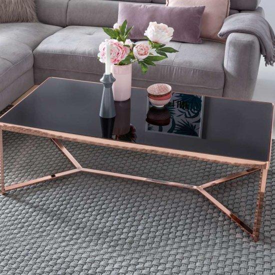 Salontafel Zwart Glas Design.Bol Com 24designs Boris Salontafel 120x60x40 Cm Zwart Glas