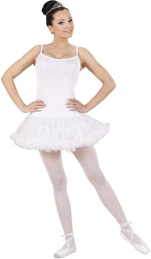 Wit balletdanseres kostuum voor dames - Verkleedkleding - Large