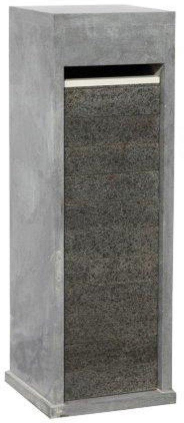 Blauwsteen Brievenbus voorzijde basalt model 65