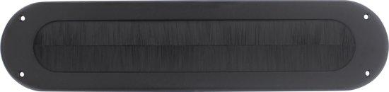 Intersteel Tochtwering ovaal rvs/mat zwart
