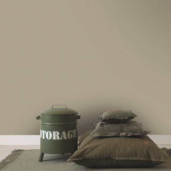 Stapelgoed - Muurverf extra mat - Khaki - Beige - 2,5L