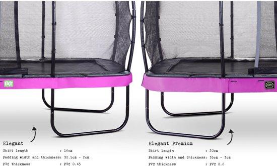 EXIT Elegant Premium trampoline 214x366cm met veiligheidsnet Deluxe - paars