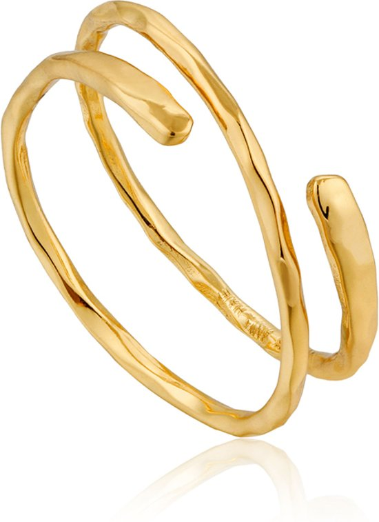 Ania Haie Ring AH R007-05G - Zilver Goldplated