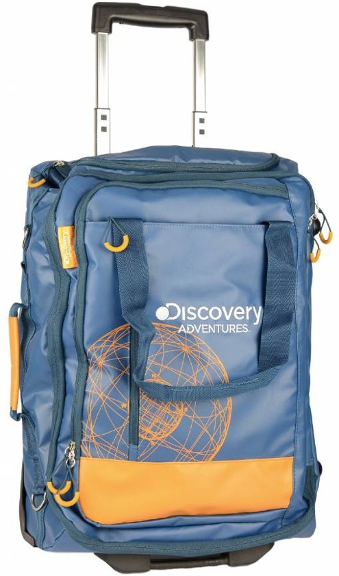 Discovery Adventures - Handbagage - Koffer trolley - oranje blauw