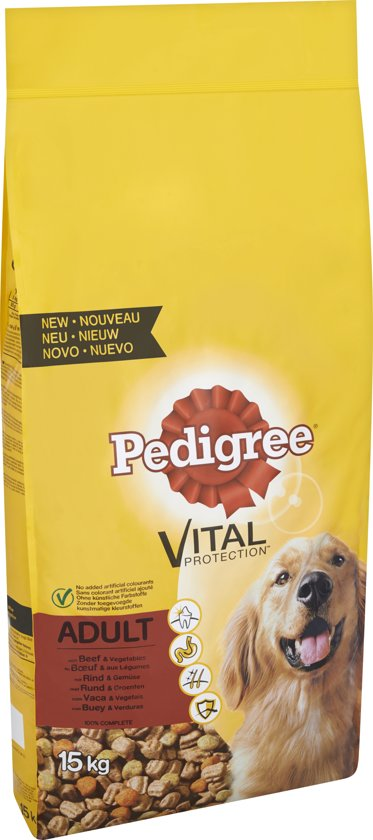 Pedigree Vital Protection Adult - Rund - Hondenvoer - 15 kg