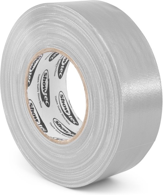 Gaffa tape - Gaffer tape - Showtec theater gaffa tape - Grijs - 50mm breed - Rol van 50 meter