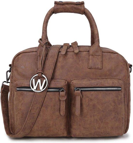 4c0046afb6f Wimona Alessia - school / werk 14 inch laptoptas - westernbag - cognac