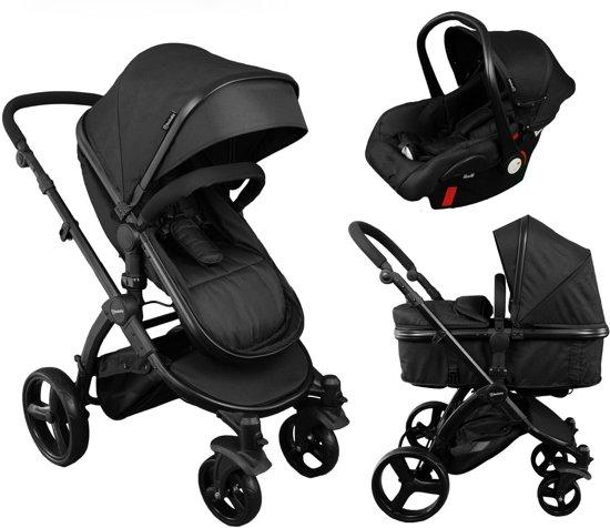beebaby 3 in 1 kinderwagen incl autostoeltje zwart. Black Bedroom Furniture Sets. Home Design Ideas