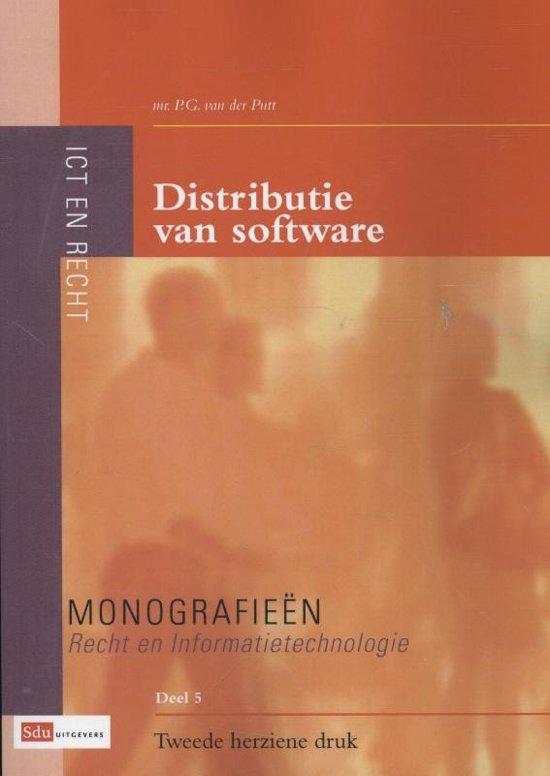 Monografieen Recht en Informatietechnologie 5 Distributie van software