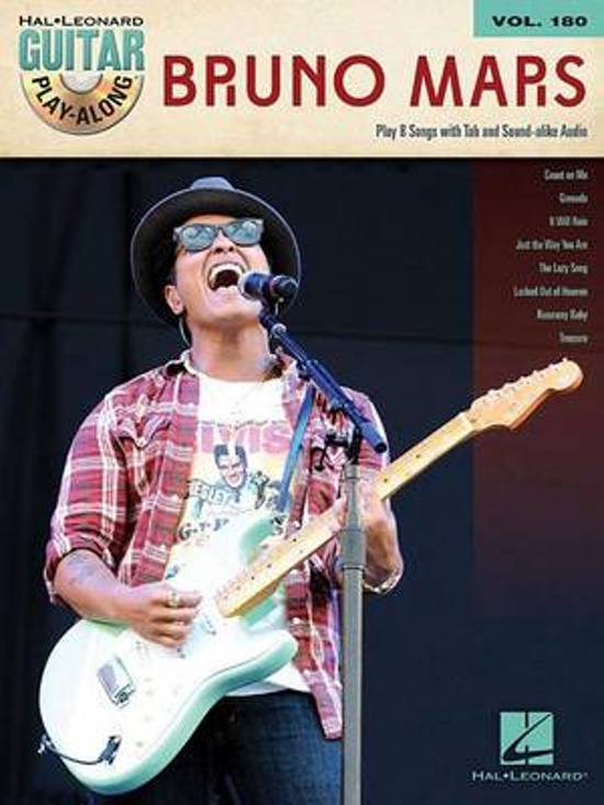 Bol Bruno Mars Guitar Play Along Volume 180 Bruno Mars