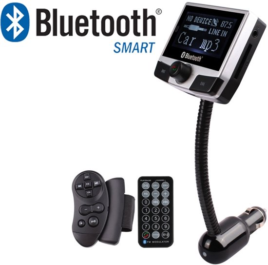 5 in 1 Draadloze Universele Bluetooth Auto MP3 Speler - FM transmitter - LED Display - Handsfree bellen - 2 x High Speed USB Oplader - SD,TF Card Ondersteuning - USB Stick - 3.5mm Jack AUX voor alle smartphones in Schokland
