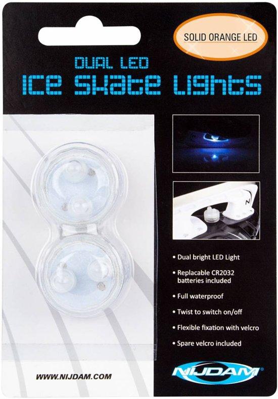 Nijdam Dual LED Schaatslampjes - Single Colour - Transparant/Oranje