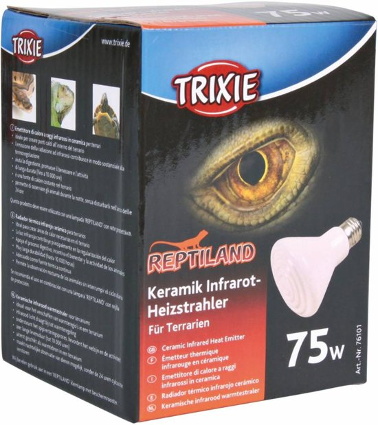 TRIXIE Terrarium verwarmer infrarood 100 W 75 x mm keramisch 76102