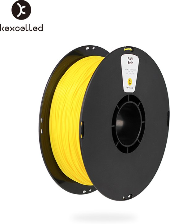 kexcelled-PLA-1.75mm-geel/yellow-1000g*3=3000(3kg)-3d printing filament