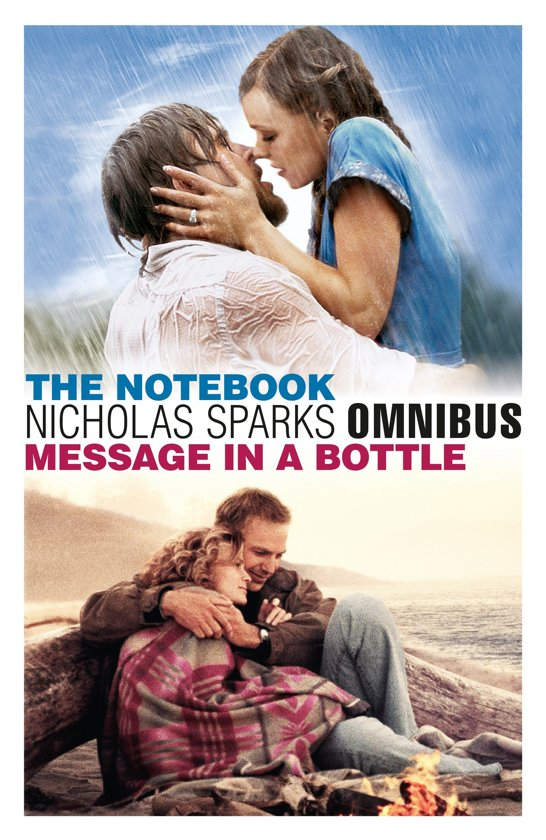 Cover van het boek 'Omnibus the notebook - message in a bottle' van Nicholas Sparks