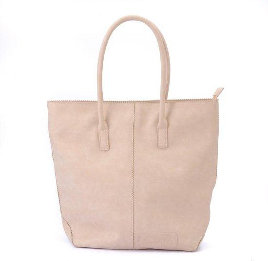 Zebra Trends Natural Bag Kartel Shopper Rits soft pink