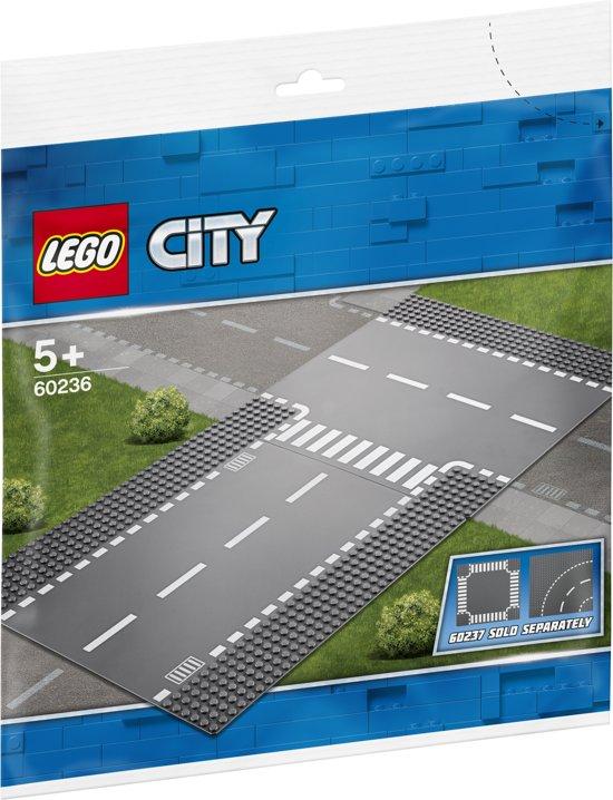 Afbeelding van LEGO City Rechte en T-splitsing - 60236 speelgoed