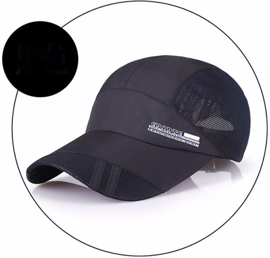 Running Performance Cap - Hardloop Pet - Baseball Trucker Cap Zwart