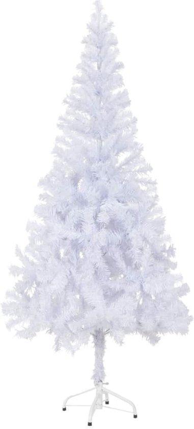 vidaXL Kunstkerstboom - 180 cm - wit - met voet