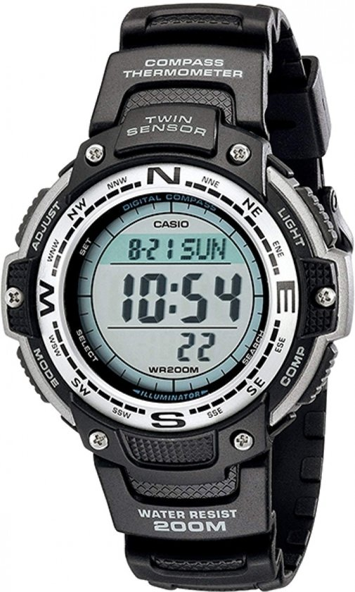 Casio SGW-100-1VEF - Horloge - Kunststof - Zwart - 47mm