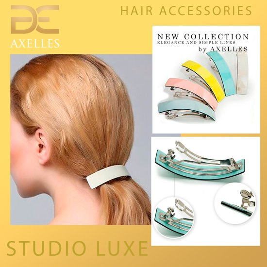 Luxe haarspeld in Eco-Cellulose 9,8 cm