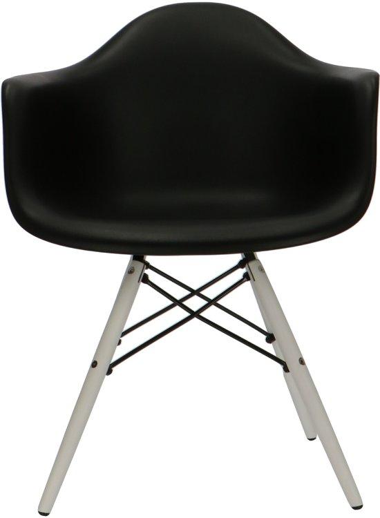 8 Zwarte Design Stoelen.Bol Com Design Eetkamerstoel Daw Design Stoel Kuipstoel Wit