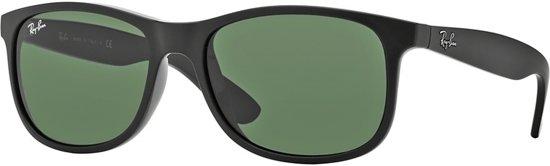 Ray-Ban RB4202 606971 - zonnebril - Andy - Mat zwart/Groen Klassiek - 55mm
