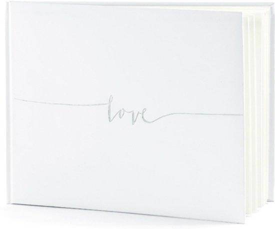 Gastenboek Love Zilver Valentinaa