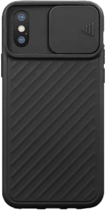 Teleplus iPhone X Case Luxury Camera Protected Covering Silicone Black hoesje