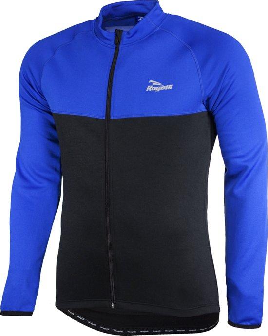 Rogelli Caluso Fietsshirt - Heren - Lange Mouwen - 3XL - Zwart/Blauw