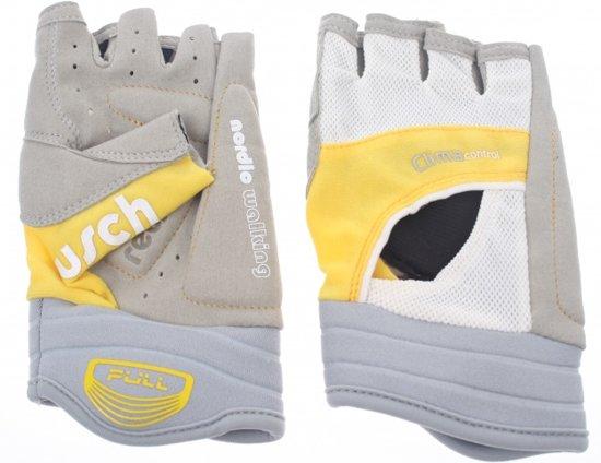 Reusch Nordic walking handschoen embla walking wit geel - Maat 6