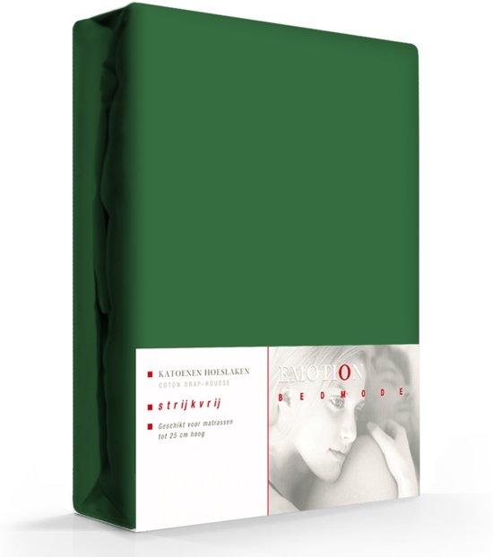 Hoeslaken Katoen Strijkvrij Groen-90 x 200 cm