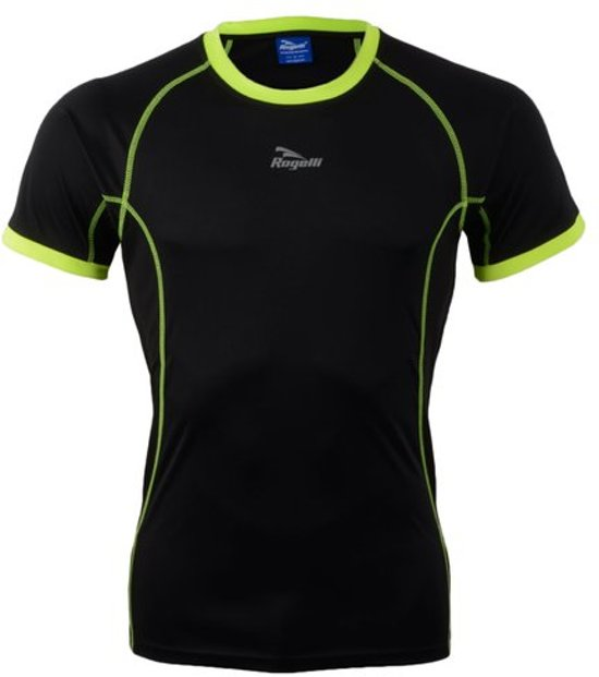 Rogelli Torrey T-shirt SS - Sportshirt - Mannen - Maat S - zwart/geel