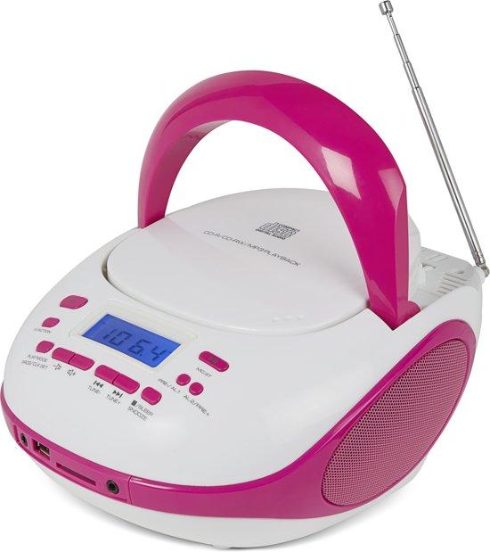 Nikkei NPRC56PK portable radio/CD-speler met USB-Poort en Bluetooth