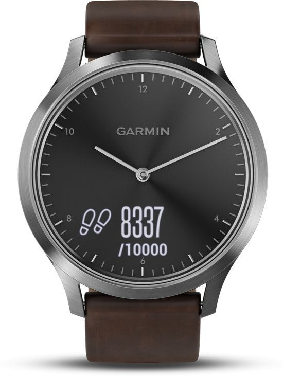 Garmin vívomove HR sport horloge Bruin, Zilver Touchscreen 64 x 128 Pixels Bluetooth