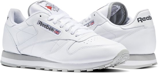 e44f5e59c36 Reebok Classics Leather Sneakers Heren - Int-White/Lt. Grey - Maat 38.5