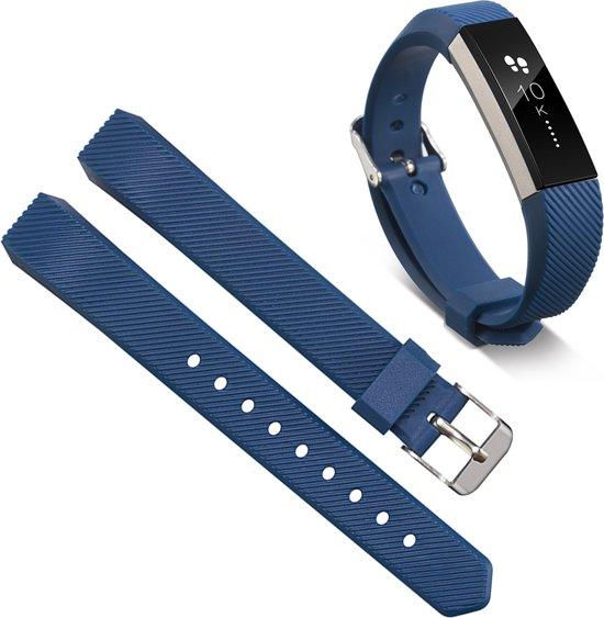 Bandje Voor De Fitbit Alta - Siliconen Armband / Polsband / Strap Band / Sportband - Donkerblauw