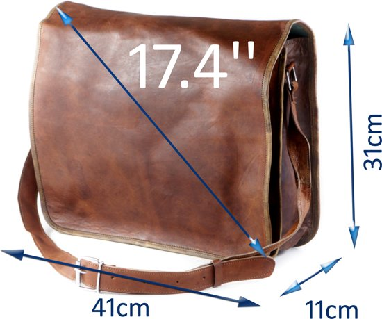 17 Almeria Inch Leer R Echt Laptoptas Aktetas BdqZq0